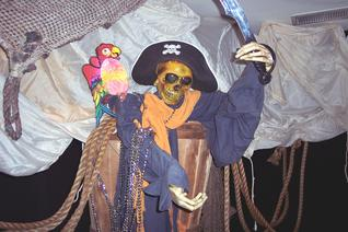 pirate skelaton pirate theme props